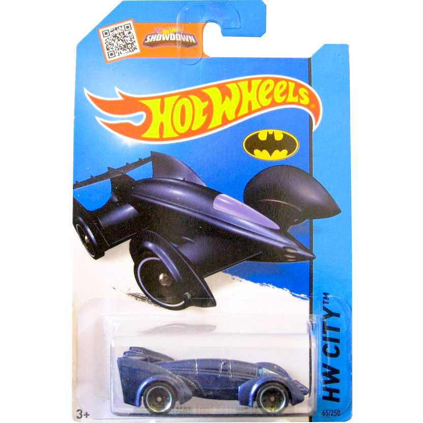 Coleção Hot Wheels 2015 Batman Live! Batmobile azul series 65/250 CFL46 escala 1/64