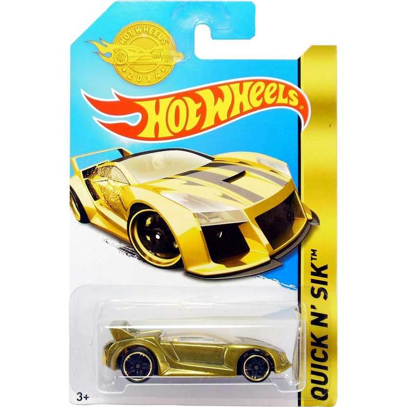 Coleção Hot Wheels 2015 Quic N SIK dourado / gold CHD98 série especial escala 1/64
