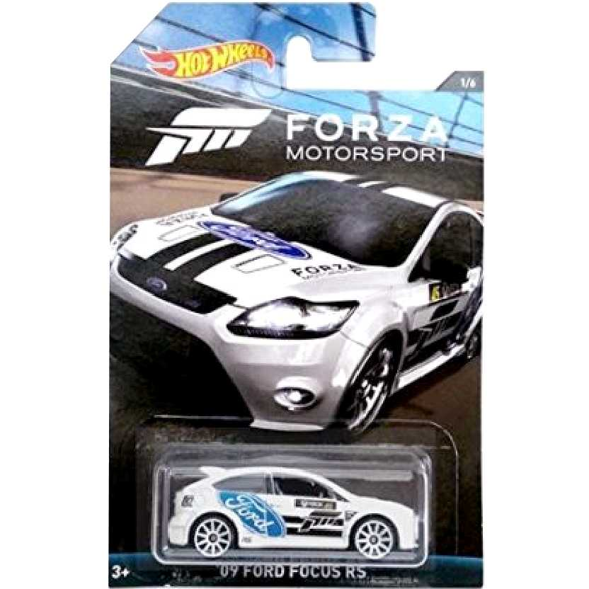Coleção Hot Wheels Forza Motorsport 09 Ford Focus RS series 1/6 DWF31 escala 1/64