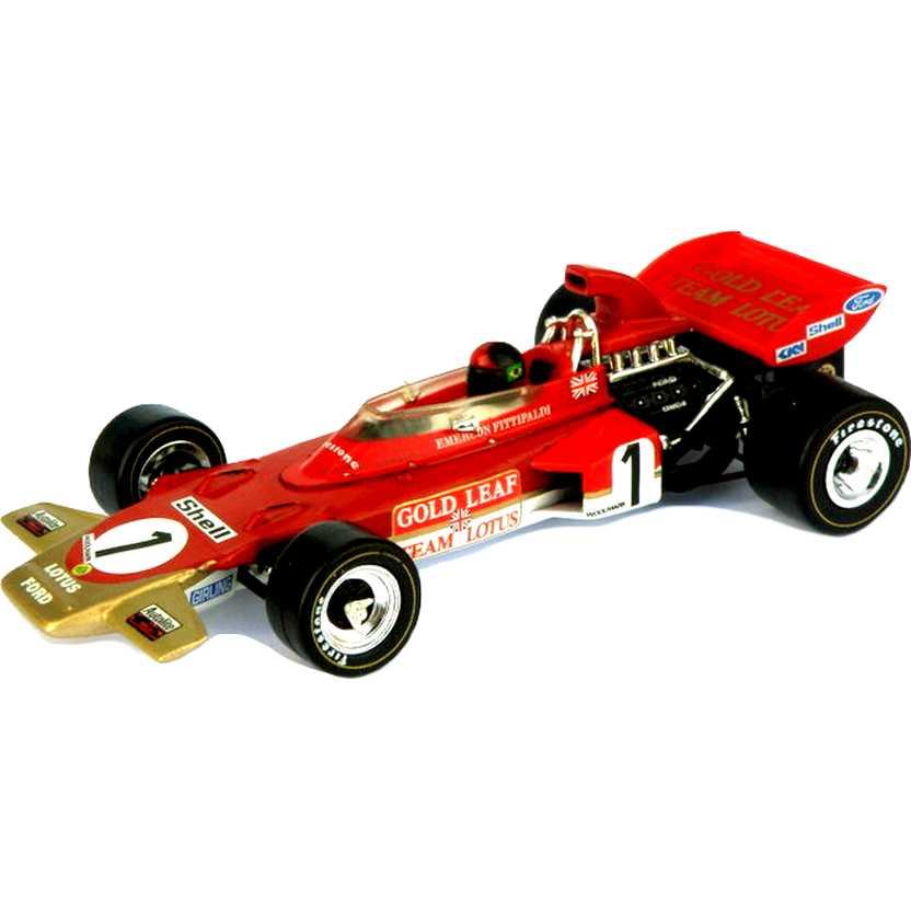 Coleção Lendas Brasileiras do Automobilismo Emerson Fittipaldi Lotus 72D (1971) escala 1/43