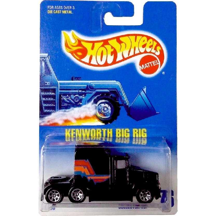 Coleção Linha 1992 Hot Wheels Caminhão Kenworth Big Rig escala 1/64 #76 1790
