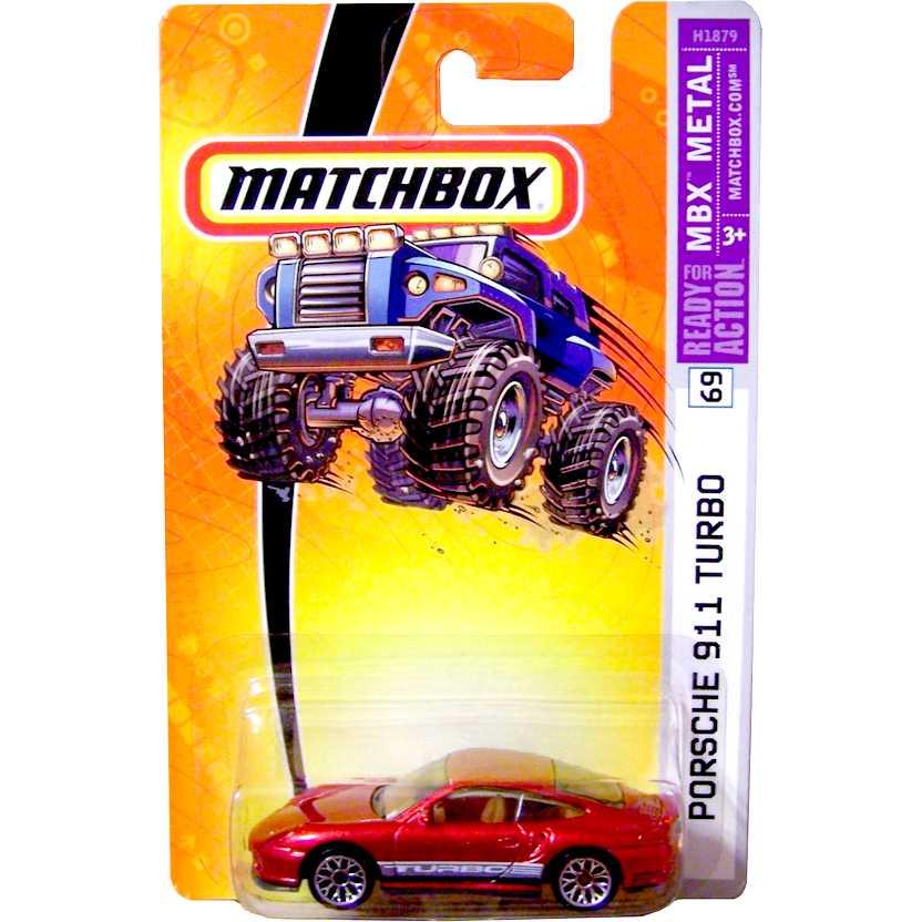 Coleção Matchbox 2005 Porsche 911 Turbo número 69 H1879 escala 1/64