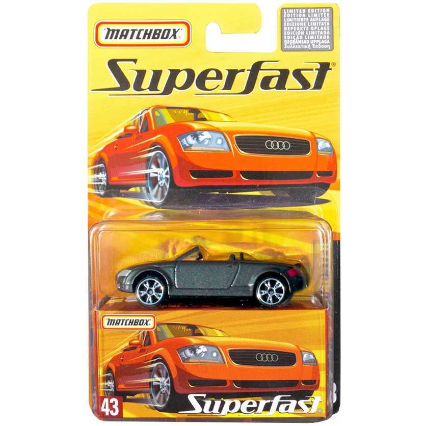 Coleção Matchbox 2005 Superfast Audi TT Roadster #43 H7755 escala 1/64