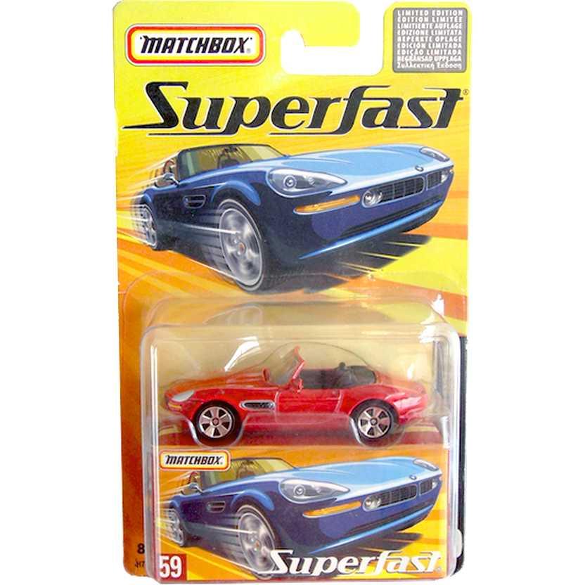 Coleção Matchbox 2005 Superfast BMW Z8 vermelho #59 H7781 escala 1/64