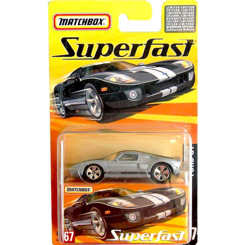 Coleção Matchbox 2005 Superfast Ford GT #67 H7803 escala 1/64