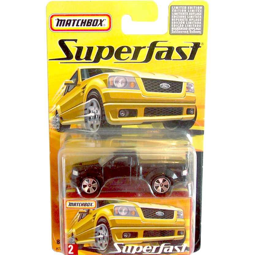 Coleção Matchbox 2005 Superfast Pickup SVT Lightning Concept #2 H7773 escala 1/64