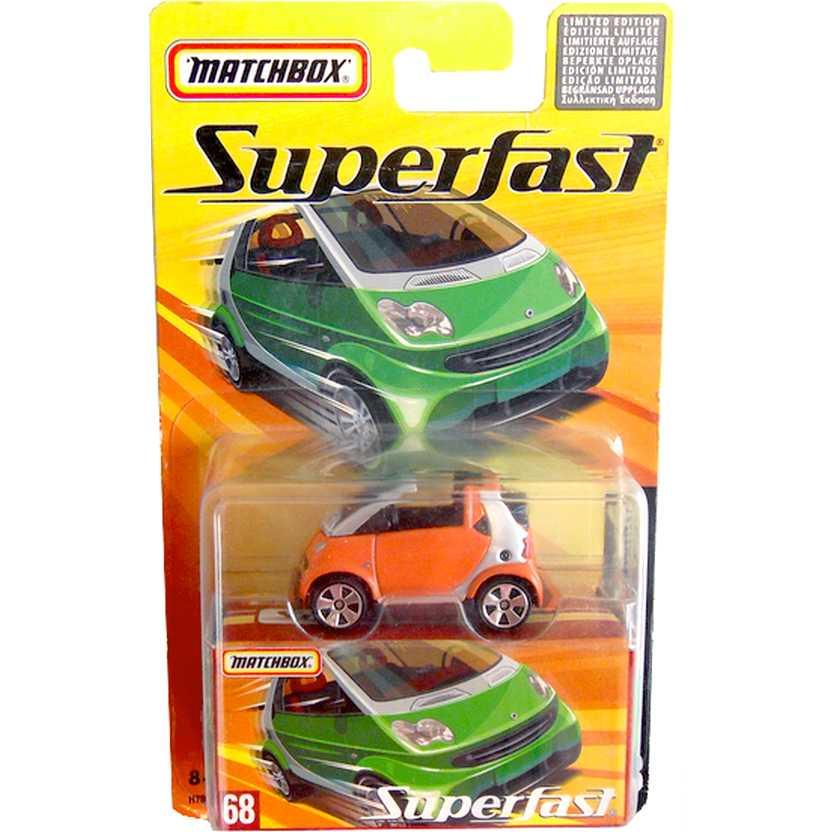 Coleção Matchbox 2005 Superfast Smart Fortwo Cabrio #68 H7804 escala 1/64