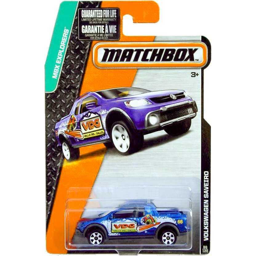 Coleção Matchbox 2015 Volkswagen Saveiro - VW Saveiro Cross CFW63 series 86/120 escala 1/64