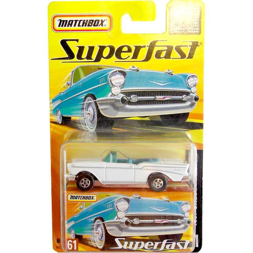 Coleção Matchbox Superfast 2005 1957 Chevy Bel Air #61 H7788 escala 1/64