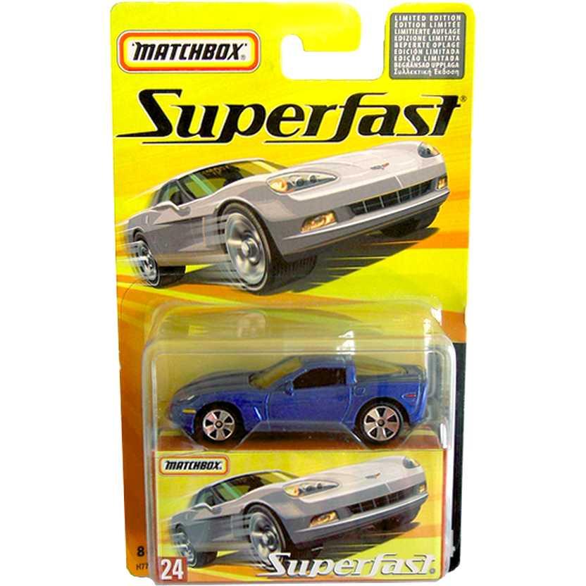 Coleção Matchbox Superfast 2005 Chevrolet Corvette C6 #24 H7779 escala 1/64