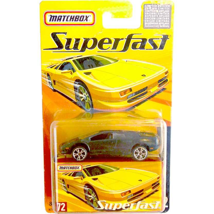 Coleção Matchbox Superfast 2005 Lamborghini Diablo #72 H7756 escala 1/64