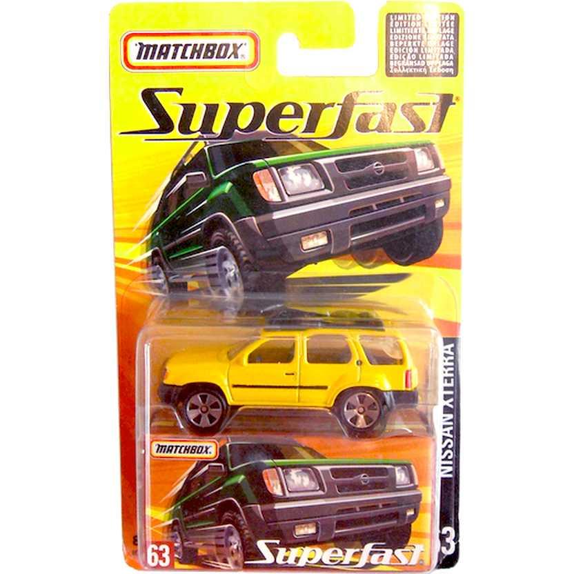 Coleção Matchbox Superfast 2005 Nissan XTerra #63 H7790 escala 1/64