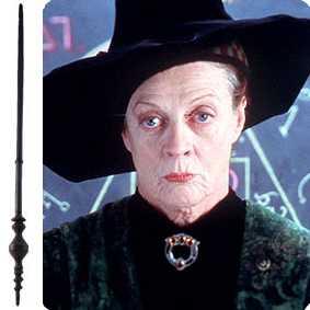 Coleção Varinhas Harry Potter - Professora Minerva McGonagall
