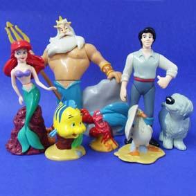 Conjunto de Personagens da Pequena Sereia Ariel (aberto)