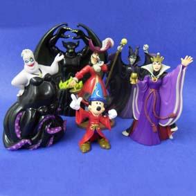 Conjunto de Personagens Vilões Disney e Mickey (aberto)