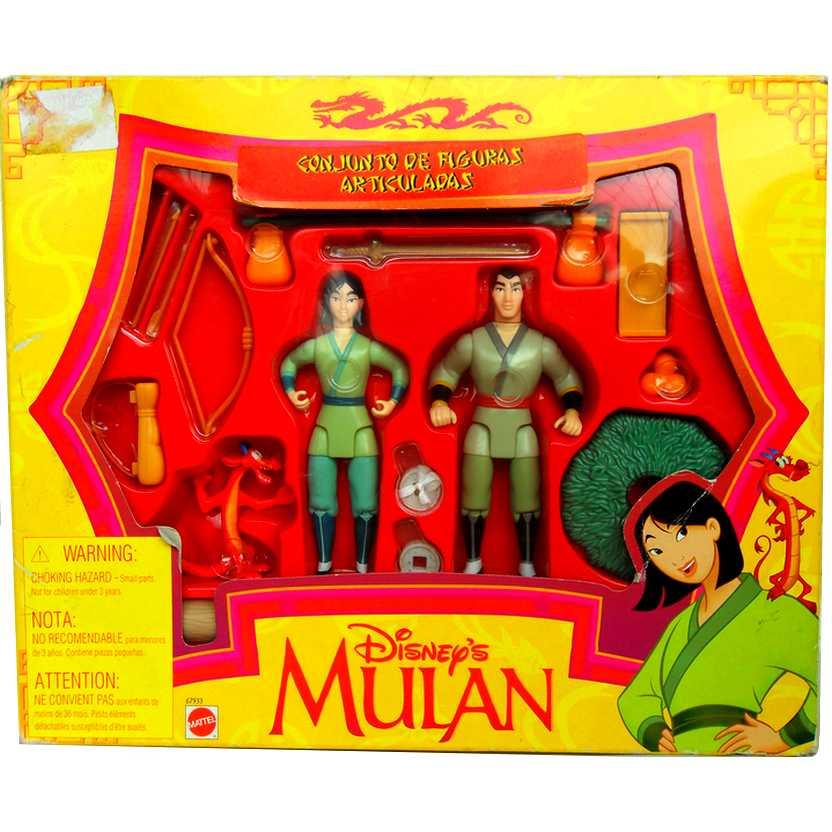 Conjunto Disney Mulan, Li Shang e Mushu marca Mattel código 67933