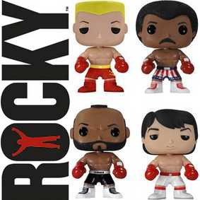 Conjunto Funko Pop! Rocky Balboa,Apollo Creed, Ivan Drago e Clubber Lang