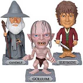Conjunto Funko The Hobbit : Gollum, Gandalf e Bilbo Baggins Bobblehead