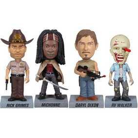 Conjunto Funko The Walking Dead : Daryl Dixon, Rick Grimes, Michonne e Zombie