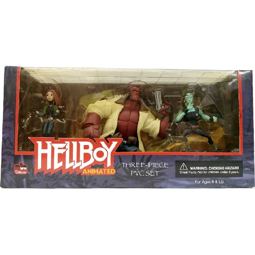 Conjunto Hellboy Animated (Hellboy, Abe Sapien e Liz Sherman) Dark Horse Comics
