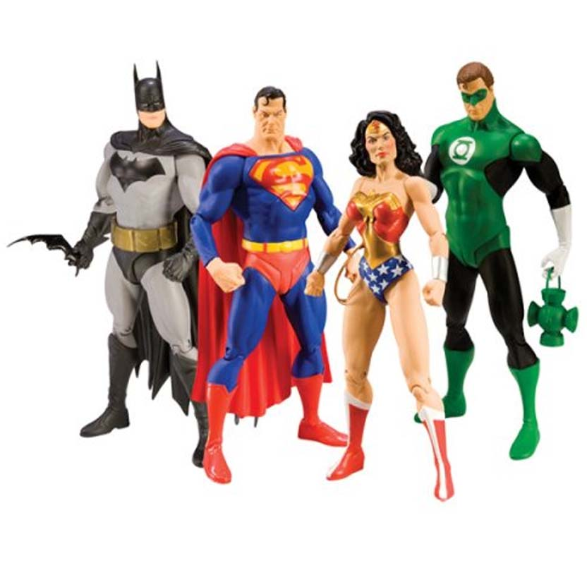 Conjunto Liga da Justiça (4 bonecos) Justice League ALEX ROSS DC Direct