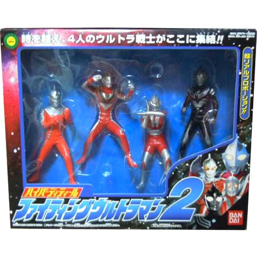 Conjunto Ultra 2 - Ultraman, Ultraseven, Ultraman Tiga Dark e Ultraman Gaia V2