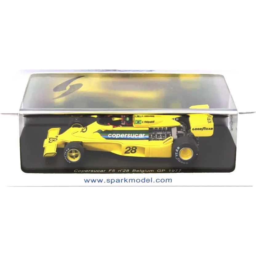 Copersucar F5 no.28 Belgium Grand Prix 1977 Emerson Fittipaldi Spark escala 1/43