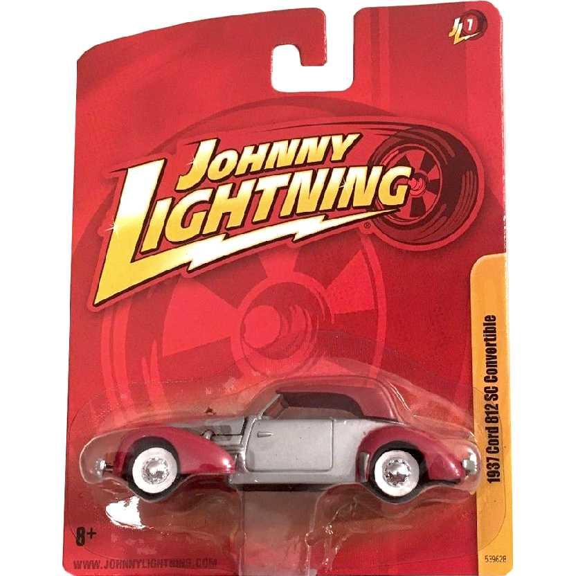 Cord 812 SC Conversível (1937) marca Johnny Lightning 53962B release 7 escala 1/64