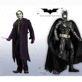 Coringa + Batman (O Cavaleiro das Trevas) Dupla