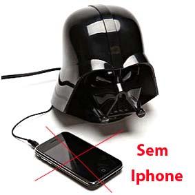 Darth Vader Star Wars (Guerra nas Estrelas) Rádio relógio com alarme e entrada AUX