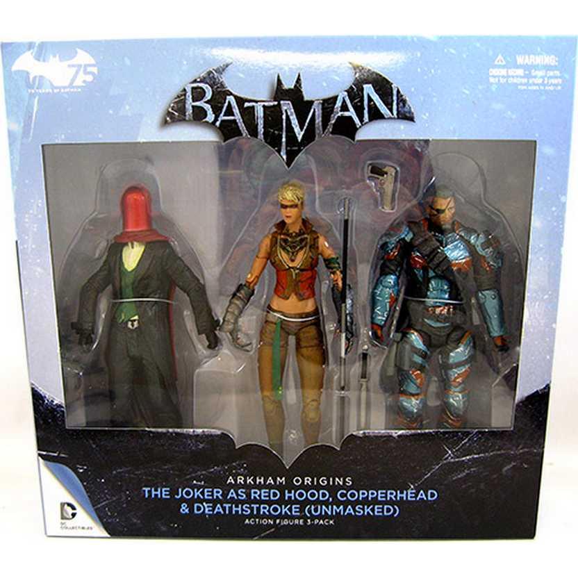 DC Comics Batman Arkham Origins The Joker As Red Hood,Copperhead,Deathstroke