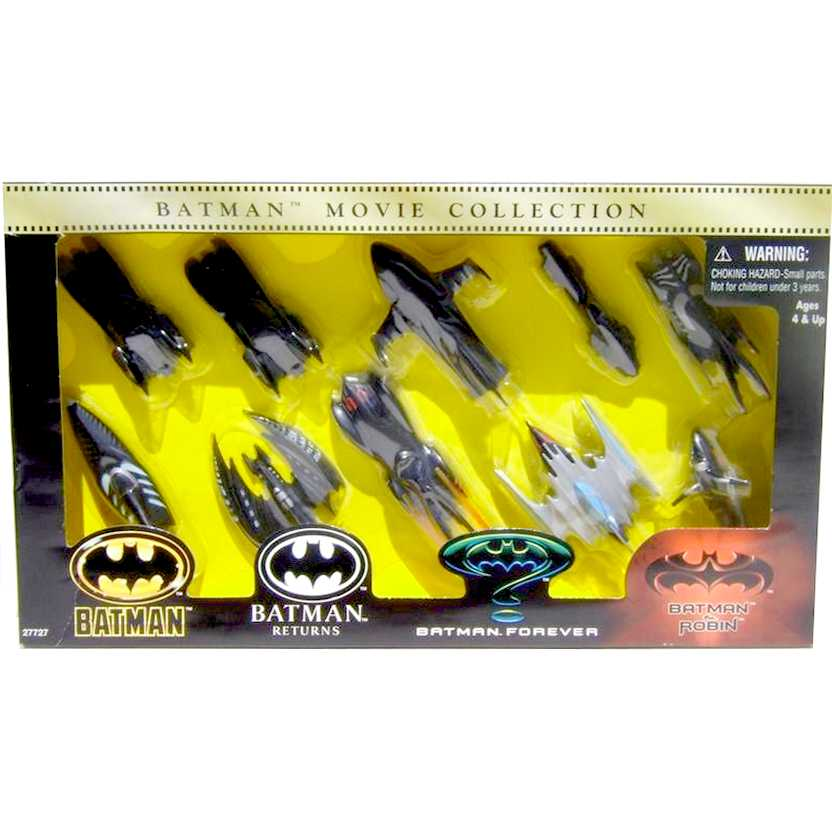 DC Kenner Batman Die Cast Batmobile Vehicle Movie Collection Set