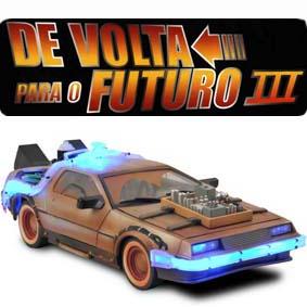 Delorean Diamond Select :: Miniatura Delorean De Volta para o Futuro 3 escala 1/15