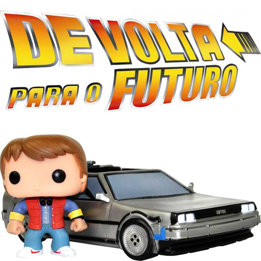 Delorean e Mart McFly De Volta para o Futuro - Funko Pop Vinyl Movies 02 (Back to the Future)