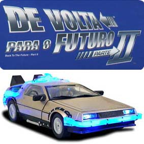 Diamond Select Delorean II :: Miniatura Delorean De Volta para o Futuro 2 escala 1/15