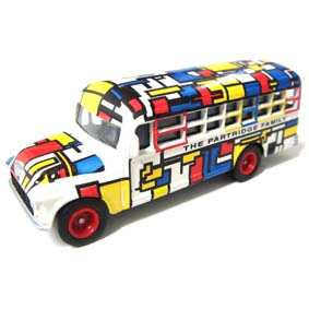 Die-Cast Model Kit The Partridge Family ônibus da Família Dó Ré Mí escala 1/64