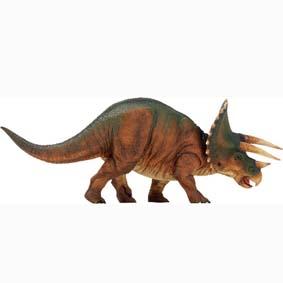 Dino Triceratops pintado a mão