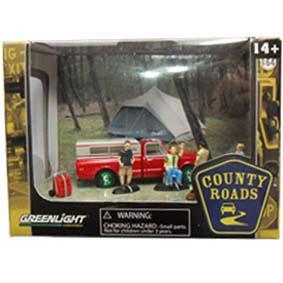 Diorama Greenlight Green Machine ::  County Roads R3 56030 Chevy C-10 (1969) 1/64