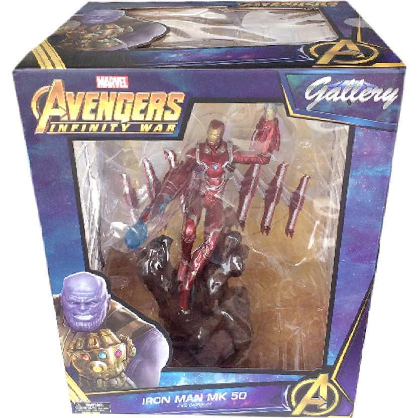 Diorama Infinity War (Guerra Infinita) Iron Man MK50 Homem de Ferro Mark 50 Diamond Select