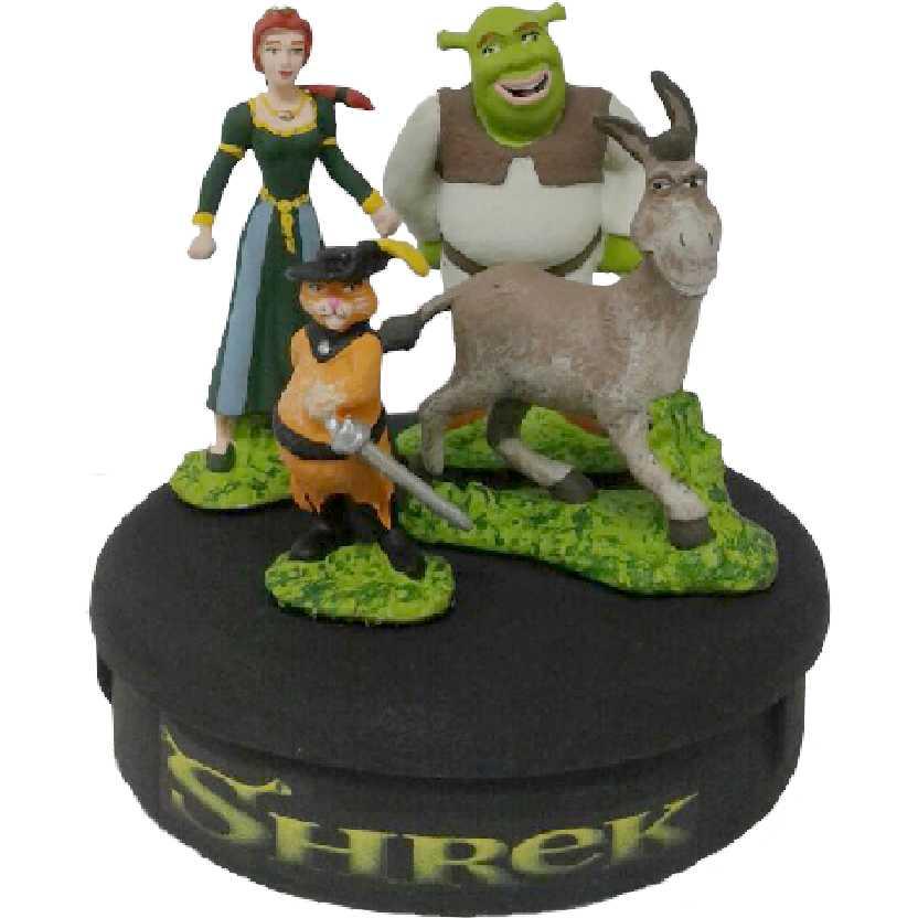 Diorama Shrek, Fiona, Burro e Gato de Botas