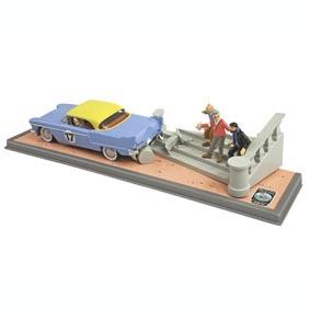 Diorama Tintin e Milou (com caixa de acrílico)