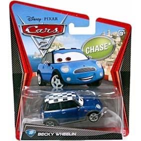 Disney Cars 2 Becky Wheelin do filme Carros 2 ( Mini Cooper ) Chase
