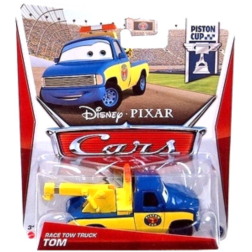 Disney Pixar 2013 Cars : Tom race Tow Truck Piston Cup 2/18 escala 1/55