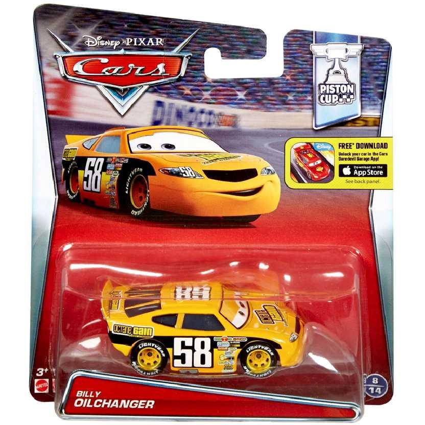 Disney Pixar Carros Billy Oilchanger #58 Cars escala 1/55 Piston Cup 8/14