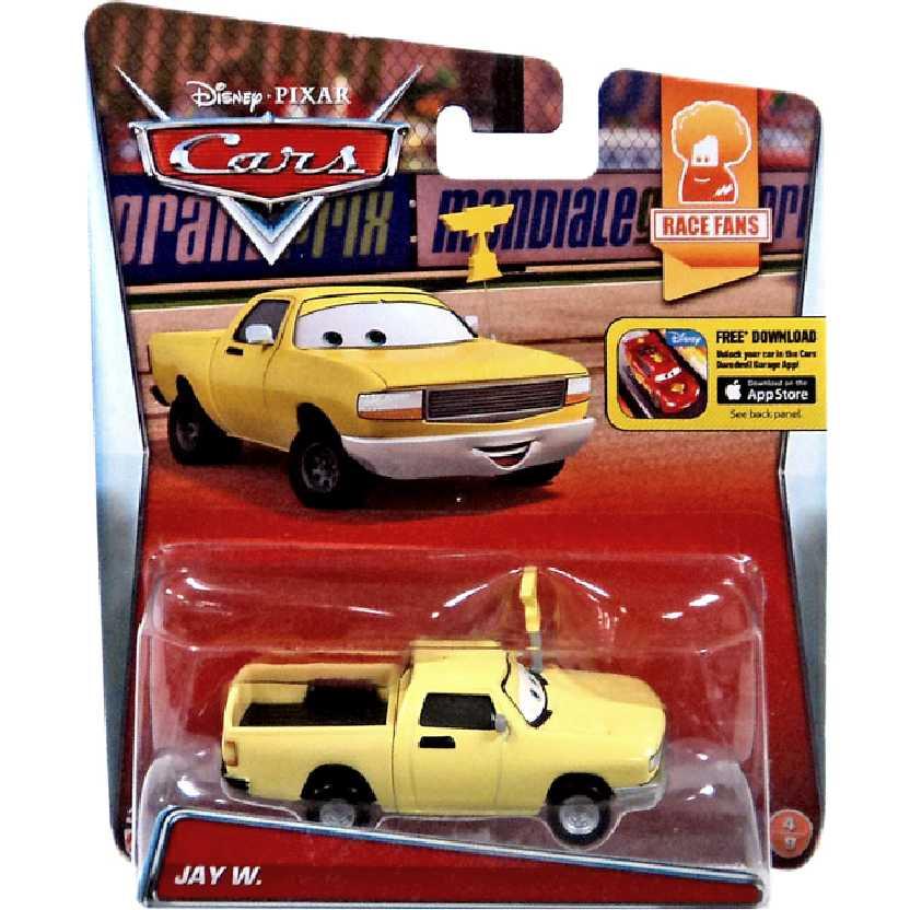 Disney Pixar Carros Jay W. pickup escala 1/55 Cars Race Fans número 4/9