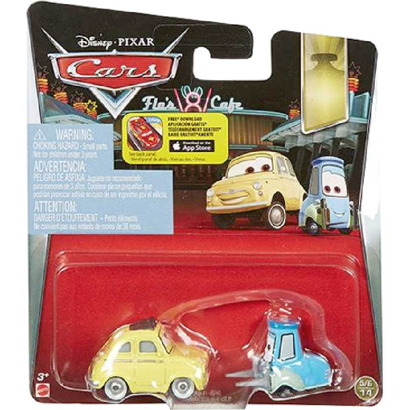 Disney Pixar Carros Luigi e Guido 5/6/14 DNK41 Cars Mattel escala 1/55