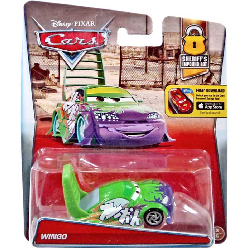 Disney Pixar Carros Wingo Cars Sheriffs Impound Lot diecast escala 1/55 número 3/6