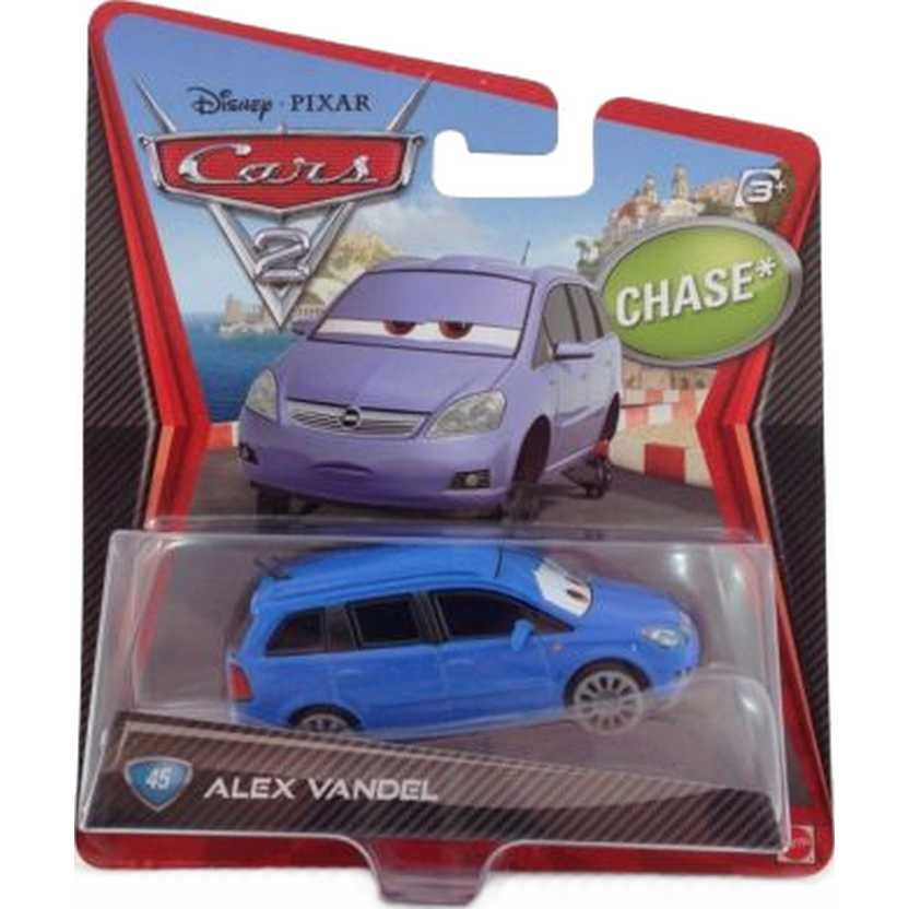 Disney Pixar Cars 2 Alex Vandel número 45 Opel Zafira ( CHASE )