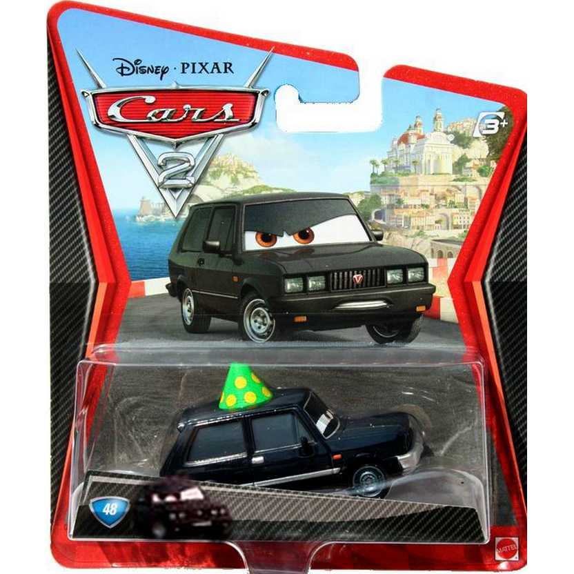 Disney Pixar Cars 2 Alexander Hugo #48 Mattel escala 1/55
