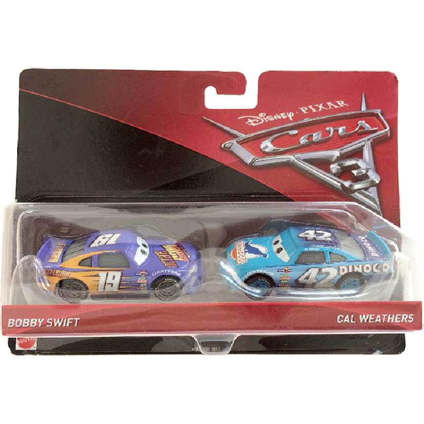 Disney Pixar Cars 3 / Carros 3 Bobby Swift + Cal Weathers DXW03